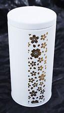 茶収納箱 Chashuunoubako - Boite à thé métal blanc mat - Sakura - Made in Japan