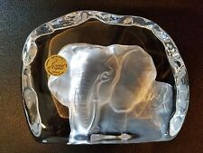 DURAND CRISTAL D'ARQUES ART COLLECTION  ELEPHANT CRYSTAL FIGURINE