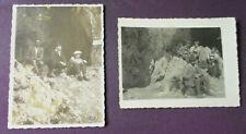 2 Stk. Fotos, 12 x 9 cm, Eisenerz, Frauenmauerhöhle, RS beschr.