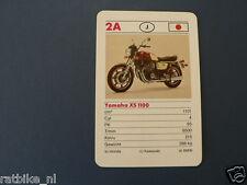 7-MOTOREN 2A YAMAHA XS1100  KWARTET KAART MOTORCYCLES, QUARTETT,SPIELKARTE