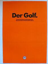 Prospekt Volkswagen VW Golf 1 - techn. Daten + Presseberichte  60 PS, ca.1979