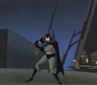 Batman Animated Series-Original Production Cel/OBG-Batman-Over The Edge