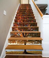3D Lawn Tree 5 Stair Risers Decoration Photo Mural Vinyl Decal Wallpaper US