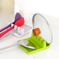 Cooking Tools Kitchen Plastic Spoon Rest Utensil Spatula Holder Heat Resistant