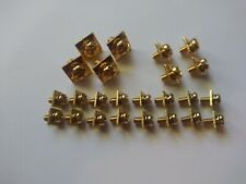 GOLD PLATED AMPLIFIER / AMP POWER AND SPEAKER TERMINAL SCREWS 24 PIECE AMP PACK