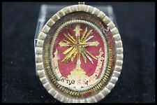 † DNJC TRUE CROSS VATICAN RELIQUARY WAX SEALED 1700s RELIC JESUS CHRIST EX LIGNO