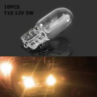 10pcs/set Warm White  12V 5W T10 W5W 194 168 Halogen Bulbs Signal Light