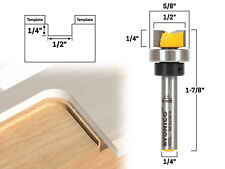 "1/2"" Diameter Offset Flush Trim Template Router Bit - 1/4"" Shank - Yonico 14177q"