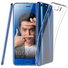 For Huawei Honor 9 Clear Slim Gel Phone Case and Tempered Glass Screen Protector
