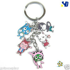 New Fairy Tail Keychain Happy Carla Frosch Lector Pantherlily Key Chain Keyring