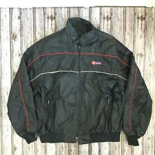 Vintage 1970s ABC SPORTS Black Racer Jacket Wide World of Sports Fair
