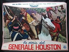 FOTOBUSTA CINEMA - LA STORIA DEL GENERALE HOUSTON - JOEL MC CREA - 1956 - BIO-01