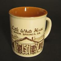 Little White House Coffee Mug Franklin Roosevelt FDR Warm Springs GA Ceramic Cup