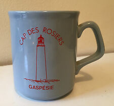 CAP DES ROSIERS GASPE GASPESIE LIGHTHOUSE COFFEE CUP - MADE IN ENGLAND