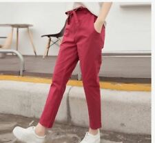 DENIM CANDY PANTS (EO) - (MAROON) LARGE