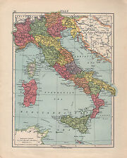 Sardinia Map In Antique World Maps Atlases Ebay