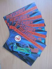 Matchbox set of 5 catalogues 1971 excellent superfast US