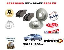 Para Citroen Xsara + Coupe + Estate 1998 - > Nuevo Trasero Discos De Freno Kit De Discos Pastillas se +