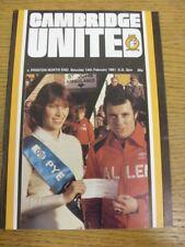 14/02/1981 Cambridge United v Preston North End (equipo cambios). si el artículo ha
