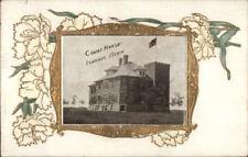 Ivanhoe MN Court House Gold Border c1910 Postcard
