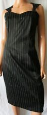 ***RINASCIMENTO Linea 2nd Star ABITO Vestito Dress TG.L Nero gessato Cod.AS