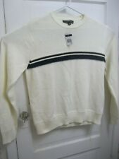 Tommy Hilfiger Mens Ivory Sweater Size Large Brand New with Tags