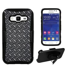 Samsung Galaxy Core Prime G360 Diamond Tread Shell Case Kickstand & Holster