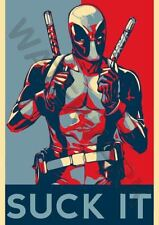 Superhero Deadpool Art Posters