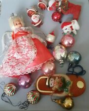 VIntage Collection Glass and kitsch Christmas Tree Bauble Decoration Ornaments