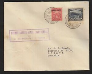 COLOMBIA 1932 FIRST FLIGHT COVER MULLER #80a BARRANQUILLA TO BOGOTA 20C SCADTA 2