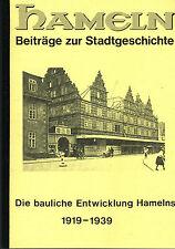 Wittkowsky, Bauliche Entwicklung von Hameln 1919/39, Städtebau Drittes Reich '91