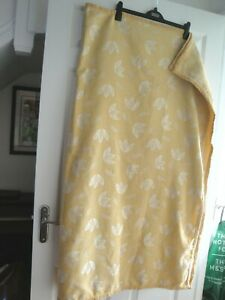 CHAIR THROW FABRIC GOLD SQUARE 58 X 48 IN THICK IDEAL GREAT QUALITY VELVET TRIM