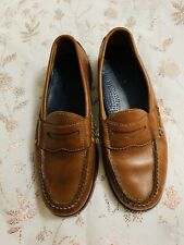 Cole Haan Brown Leather Penny Loafers 7D