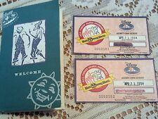 VINTAGE RARE Disney World-Vacation Club Member Tickets & Booklet 1994