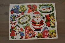 VINTAGE DIE-CUT STICKERS - 1950'S GUMMED CHRISTMAS SEALS - 1 sheet - NEW