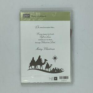 Stampin' Up! Come to Bethlehem Stamp Set Unused Wisemen Camels Star READ