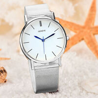 Fashion Geneve Women's Stainless Steel Watch Analog Quartz Wrist Watches White