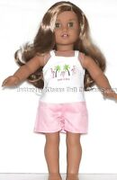 Pretty In Pink Flamingo Short Set 18 in Doll Clothes Fits American Girl Dolls