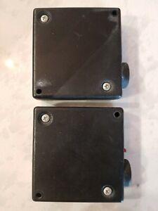 Genie Overhead Door Infrared Safety Sensor Photo Eyes Old Diag Brackets (QC)