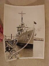 ORIGINAL WWII ERA PRESS PHOTO USS DUNLAP 384