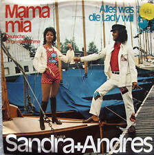 """7"""" 70s COVERVERSION! SANDRA & ANDRES : Mama Mia  /VG++"""