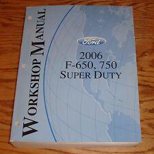 Original 2006 Ford F-650 F-750 Super Duty Shop Service Manual 06