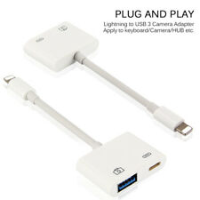 2 in 1 Lightning USB 3 Camera Reader Adapter for iPhones iPad Keyboard Hub NEW