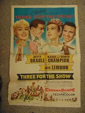 "Betty Grable Marge Gower Champion Three For The Show 27x41"" Poster #L9546"