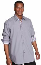 Men's fashion dress shirt 60% Cotton 40% Polyester Collar Design By George AH608