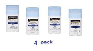 4pk- Neutrogena Sunscreen Face & Body Stick SPF 70 1.5oz UVA UVB