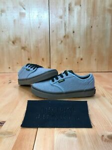 VANS ATWOOD Youth Size 1.5 Old Skool Canvas Shoes Sneakers Gray