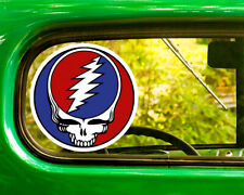 2 THE GRATEFUL DEAD HEAD DECAL Stickers Bogo For Car Bumper Laptop window Jeep
