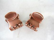 Tiny mini rose gold/copper tone metal hair claw clip