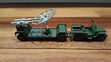 Jeep with radar dish A Lone Star Die Cast Toy